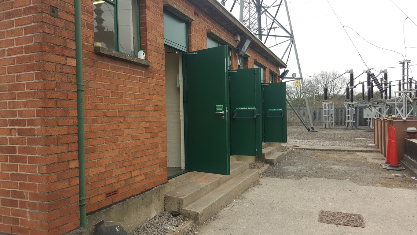 Utility flood protection steel doors